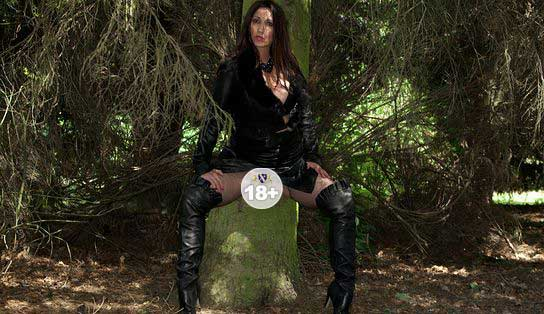 Boots And Leather In The Woods